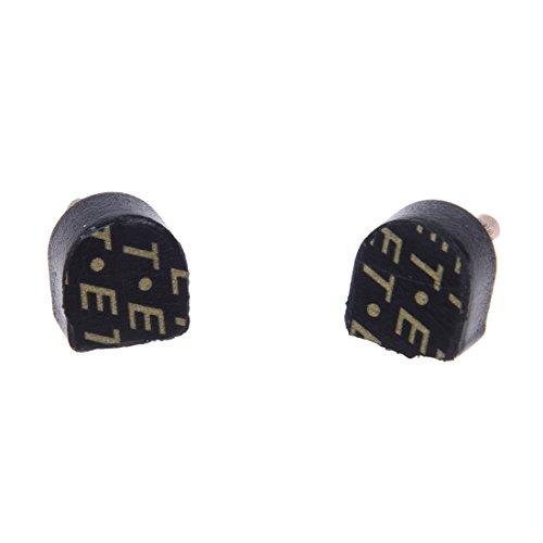 SODIAL (R) 6 pares placa de talon negro para zapatos de tacon alto 10x11mm 604 estilo