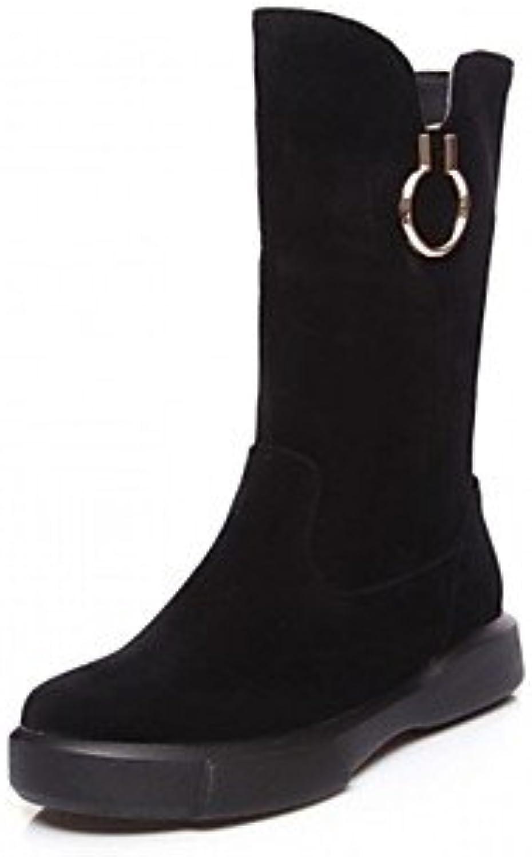GLL & xuezi botas para mujer comodidad Novelty Bootie Otoño Invierno Piel sintética Casual Oficina & Carrera lunares...