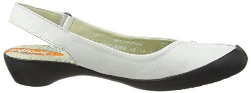 Softinos Farren Smooth, Ballerines femme Blanc - Weiß (white 009)