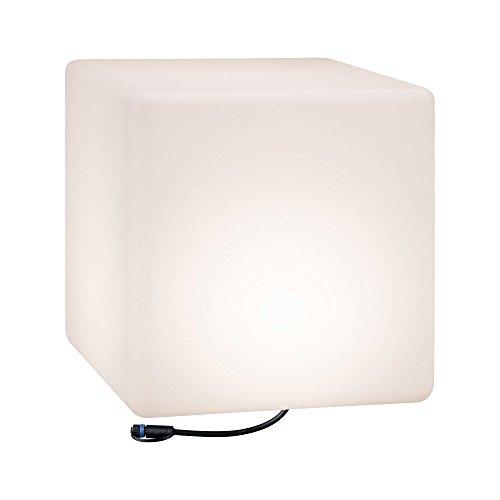 Paulmann 941.82 Outdoor Plug & Shine Lichtobjekt Cube IP67 3000K 575lm 24V Würfelleuchte Dekowürfel Aussenleuchte Gartenbeleuchtung Terassenleuchte 94182