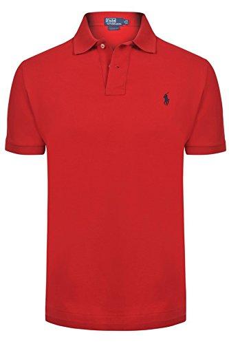 Ralph Lauren Herren Polo Poloshirt Figurbetont von Ralph Lauren Size: S / RED