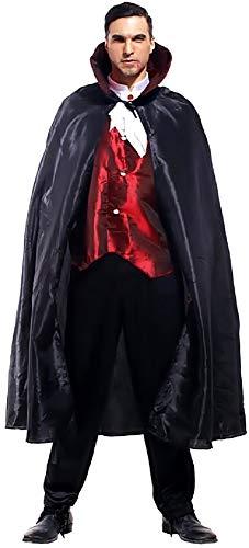 Costume vampiro - travestimento - carnevale - halloween - dracula - twilight - colore nero - adulti - uomo - ragazzo - taglia unica - idea regalo per natale e compleanno