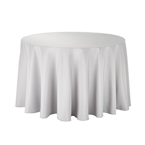 Round table cloth cover cotton wedding birthday party for 108 inch dining table