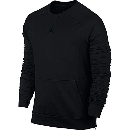 Jordan 360 Therma Fleece Men's Crewneck Sweatshirt Black 809435-010 (Size S) Jordan Mens Fleece