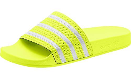 adidas Herren Adilette Aqua Schuhe, Mehrfarbig FTWR White/Solar Yellow Ee6182, 40 2/3 EU -