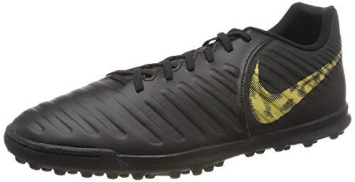 Nike Herren Legendx 7 Club TF Fußballschuhe, Schwarz (Black/MTLC Vivid Gold 077), 43 1/3 EU