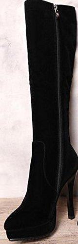 Laruise , Sandales Plateforme femme Noir