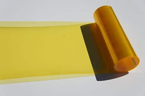 Headlights, Tail Lights, Fog Lights Tint Vinyl Film, Self Adhesive (Small 12''X48'', JDM Golden Yellow) by DIBRAND