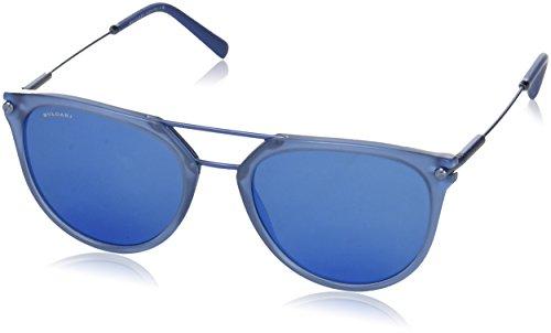 Bulgari Herren 0BV7029 541055 55 Sonnenbrille, Blau (Matte Bluee/Darkblueemirrorbluee),