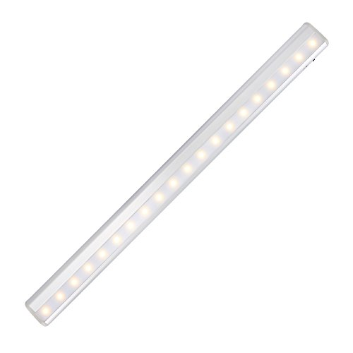 KEDSUM Rechargeable PIR Motion Sensor Cabinet Light 20-LED USB Charging Night Light/Stairs Light with Magnetic Strip,DIY Stick-on Wall Lamp for Kitchen Cupboard Closet Wardrobe -Warm White Lights Test