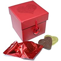 "1 Luxury ""Will You Marry Me?"" Fortune Cookie with 2 Heart Chocolate Coins"
