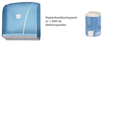 Aviva Clean SPENDERSET SEIFENSPENDER 500 ml & PAPIERSPENDER BLAU ANGEBOT NUR HEUTE heute Angebote