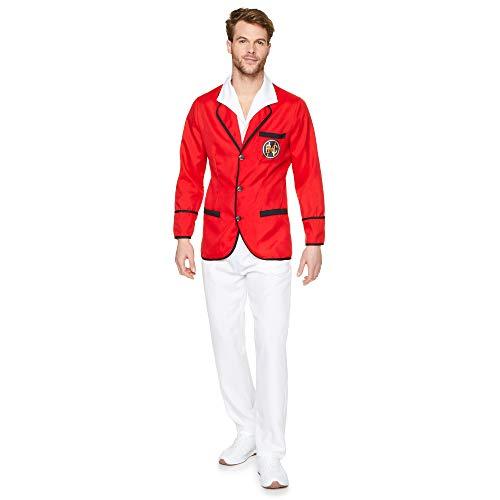 Karnival 82270 - Disfraz de repelente de vacaciones para hombre, talla L, color rojo