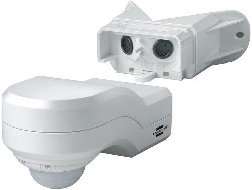 Brennenstuhl Bewegungsmelder Infrarot / Bewegungssensor für Außen und Innen - IP44 (240° Erfassungswinkel und 12m Reichweite) Farbe: weiß