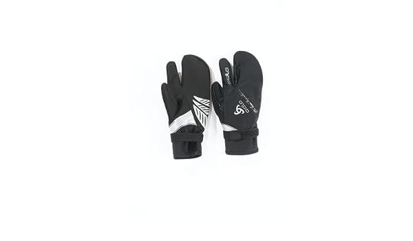 5ccc8df19e43f Odlo Oeb Moufles 3 Doigts Noir Noir s: Amazon.fr: Sports et Loisirs