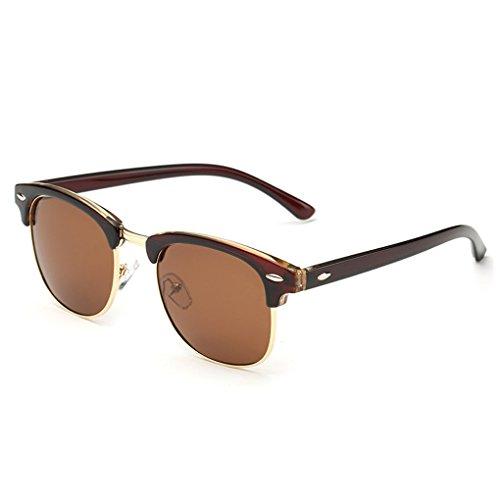 QHGstore Men Women Sports Polarized Sunglasses Eyewear UV Protection Sun Glasses Brown