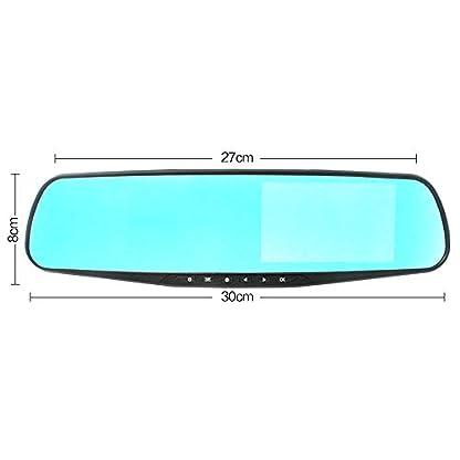 FreeLeben-43-Zoll-Spiegel-Dash-Cam-Wasserdichter-HD-Dual-Lens-DVR-Touchscreen-Rckspiegelkamera-Videorecorder-Parkberwachung