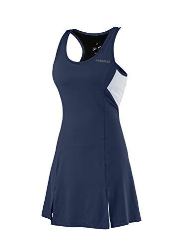 Tennis Kleider (HEAD Damen Club Dress Women Kleider, dunkelblau, L)