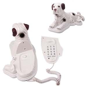 pggpo Creative pour chien en forme de téléphone fixe filaire Téléphone de Table pour Home Office