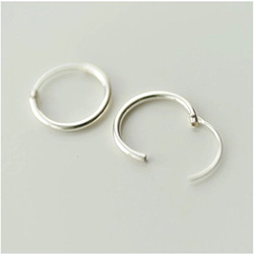 Price comparison product image Sterling Silver anti-tarnish Endless Hoop Earrings ( one pair) (10mm)