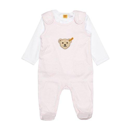 Steiff Baby - Mädchen Bekleidungsset Strampler + T-Shirt 1/1 Arm, Rosa (Barely Pink), 50 (Herstellergröße: 50)