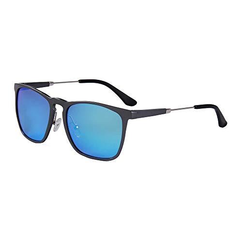 G+L polarisierte sonnenbrille für damen und herren uv 400 schutz Aluminium-Magnesium-Farbfilm Reflektierende Tac-Pistole Grauer Rahmen Nickel Weiß Kreis Seide I