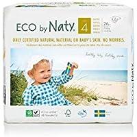 ECO par Naty Premium couches jetables pour les peaux sensibles, taille 4, 7–18kg, 6paquets de 26(156fils)