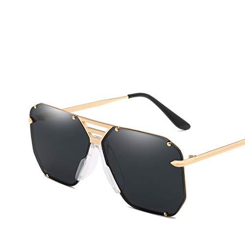 YUHANGH Mode Quadratischen Rahmen Vintage Sonnenbrille Frauen Übergroßen Großen Größe Sonnenbrille Für Männer Weibliche Shades Gold Eyewear
