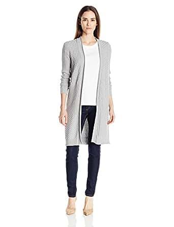 b6b6d64b9fb Foxcroft Women s Long Sleeve Mix Stitch Duster Cardigan Sweater ...