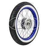 Komplettrad - VORNE - 1,5x16 Zoll - Alufelge blau eloxiert und poliert,...
