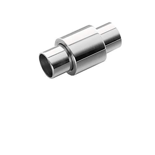316L Edelstahl 5/6 mm großes Loch Größe Magnetverschluss für Lederband Armband Verbindungsstücke DIY Schmuck Herstellung, metall, 6mm Hole Size, Einheitsgröße