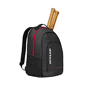 DUNLOP D TAC CX Team Backpack BLK/Red – Mochila de Tenis para Adulto, Unisex, Color Negro, Rojo, Talla única