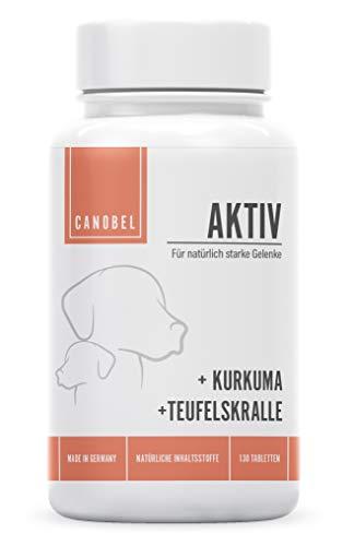 Canobel® AKTIV - Gelenk-Nahrungsergänzungsmittel für Hunde - Glukosamin, Chondroitin, MSM, Made in Germany - 130 mundgerechte Tabletten bei Sehnen- und Bänderproblemen jeglicher Art