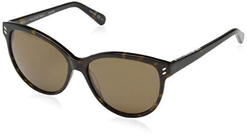 Stella mccartney sc0002s 004, occhiali da sole unisex-adulto, marrone (004-avana/brown), 57