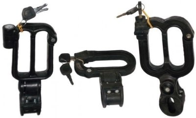 Delhi Traderss Helmet Lock (Black Pack of 3)