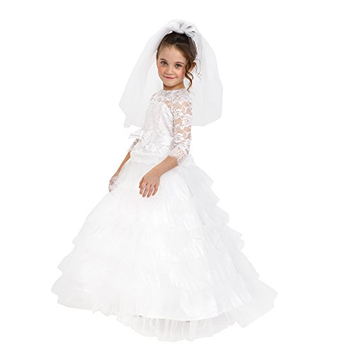 Kleid Braut Prinzessin Kostüm - Dress Up America Mädchen White Dream Braut Kostüm