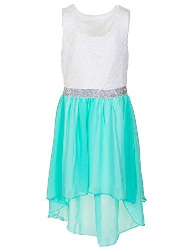 Modisches Mädchen Sommerkleid in 7 Farben (16 / 164, #175gn Grün) (Frühjahr Modisch)