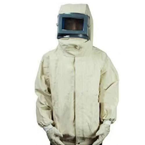 Allgemeine Schutzarbeit Sicherheitsarbeit Sandstrahlmaschine spezielle Schutzkleidung Leinwand staubdichte Kleidung Sandstrahlen Sandstrahlkleidung verbundener Schutzkleidung - Reduzierung-anzug