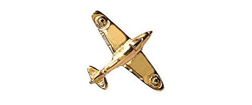 Krawattennadel aus 9 Karat Gold - mit Supermarine Spitfire Design