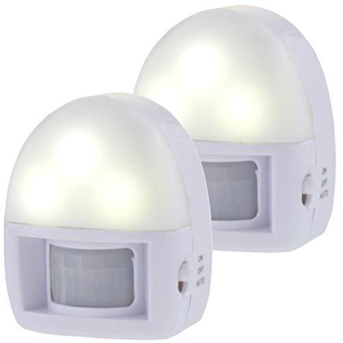 2 x LED Nachtlicht mit Bewegungsmeld, Nachtllampe, Orientierungslicht, Treppenlampe