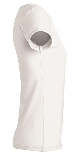 YTWOO Amy Damen Basic T-Shirt Aus 100% Bio-Baumwolle mit Rundhalsausschnitt und taillierte Passform, Bio Kurzarmshirt, Organic Cotton Weiß