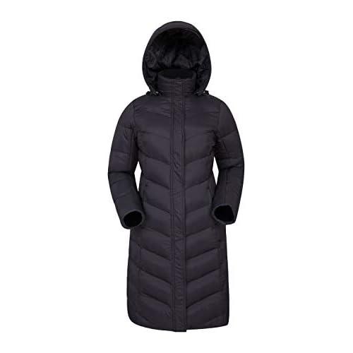 31EkgnxuOGL. SS500  - Mountain Warehouse Alexa Womens Padded Jacket - Water Resistant, Lightweight, Storm Flap, Adjustable Hoodie, Pockets Ideal for Winter & Wet Weather