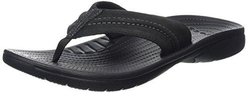 Crocs Yukon Mesa, Herren Zehentrenner, Schwarz (Black/Black 060), 45/46 EU