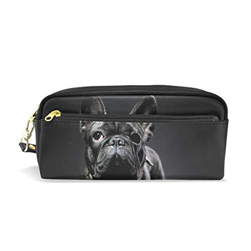 Große Französisch Geldbörse (Schule Bleistiftbeutel Tier Französisch Bulldog für Jungen Kinder Teens Stifthalter Kosmetik Make-up Tasche Schreibwaren Beutel Tasche mit großer Kapazität)