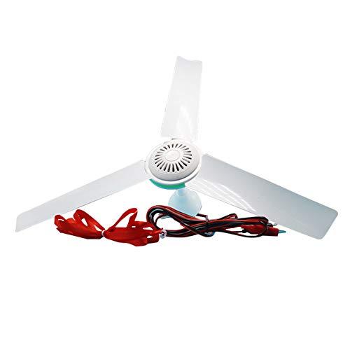 XuBa 12 V CC, bajo Voltaje, regulación de Velocidad sin Niveles, Mini Ventilador de Techo para protección...