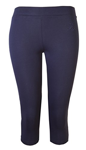 Damen Leggings Damen Crop Capri Hose BRODY & Co 3/4 Gym zugeschnitten Leggins Dance Yoga Gr. Large / X-Large, marineblau (Zumba Höschen)