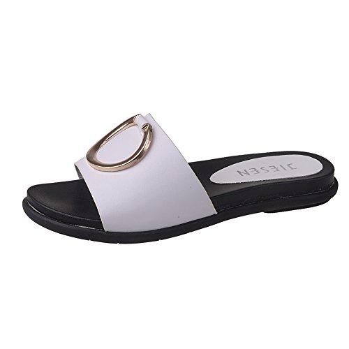 Femminili Pistoni Flip Détudiant Scarpe Coreano Focaccina Dei flop Pantofole Basse Ragazza Della Della Spiaggia Sandali qTAUUwx