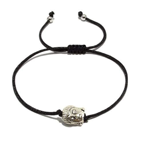 JAHAMOTA Buddha Armband | Yoga Armband mit Good Karma Heilwirkung | Handmade | Tibetisches Glücksarmband