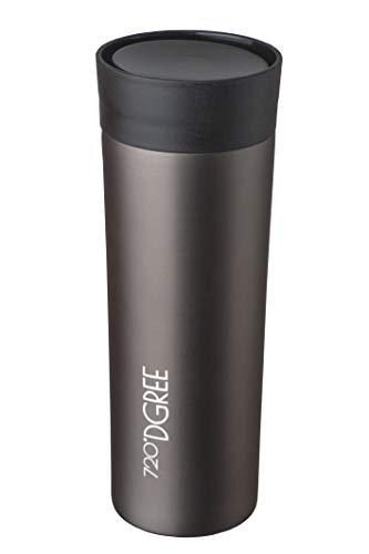 720°DGREE Thermobecher Kaffee & Tee to Go PleasureToGo - 450ml, Grau | Perfekter Kaffeebecher mit Deckel | Doppelwandig vakuumisolierter Isolierbecher Travel Mug für Heiße Getränke Überall -