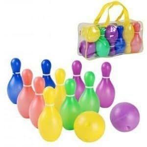 Jeu de bowling pour enfant avec 10 quilles 2 boules for Decoration quille de bowling